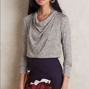 Anthropologie Deletta | Shimmer Cowl Neck Sweater